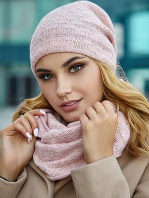 Комплект (шапка і снуд) пудрового кольору | 5519607