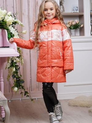 Куртка кольору персика   5523212