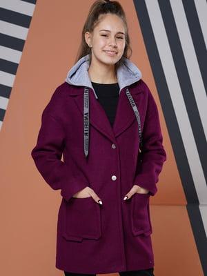 Пальто цвета вина | 5523443