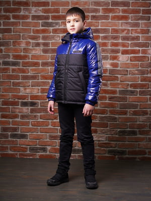 Куртка черно-синяя - Angeli.R - 5523487