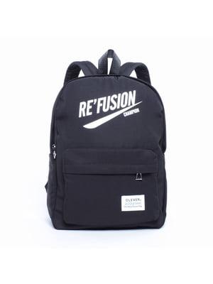 Рюкзак чорний з принтом | 5523827