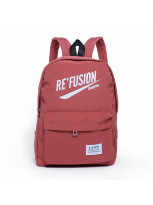 Рюкзак червоний з принтом | 5523828