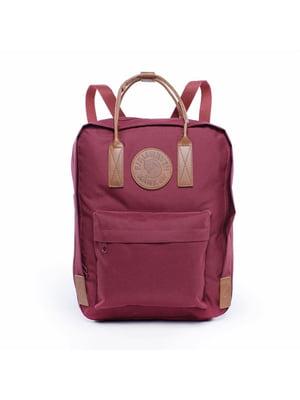 Рюкзак бордовий | 5524327