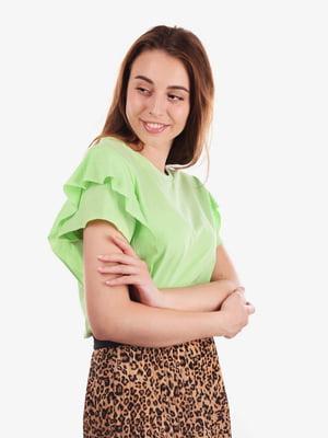 Блуза салатового цвета   5522095