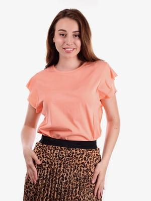 Блуза персикового цвета   5522096