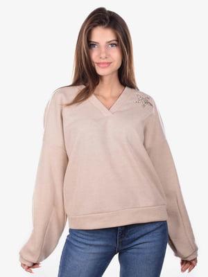 Пуловер бежевый | 5522129