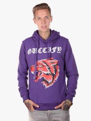 Худі фіолетова з принтом | 5522153