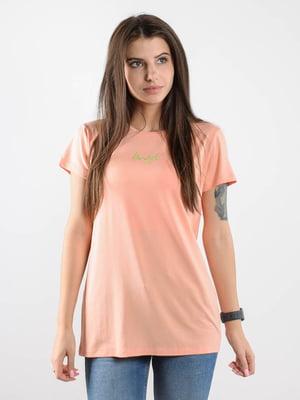 Футболка персикового кольору | 5522440
