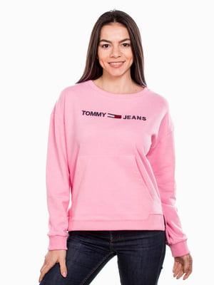 Світшот рожевий з принтом | 5522835