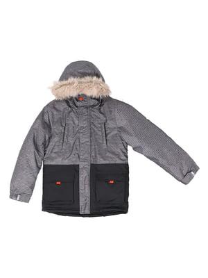 Куртка чорно-сіра | 5525112