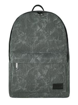 Рюкзак серый в размытый принт | 5525400