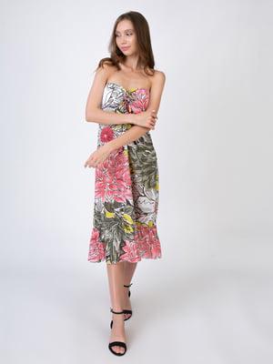 Сарафан різнокольоровий в квітковий принт | 5507781