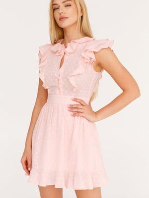 Платье розовое в принт | 5525502