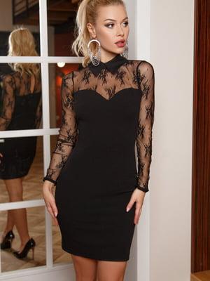 Платье черное в принт | 5525522