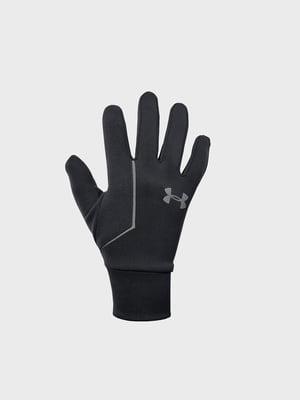 Перчатки черные с логотипом | 5492092
