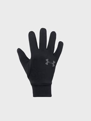 Перчатки черные с логотипом | 5492634