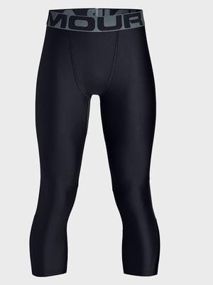 Легінси чорні з логотипом-написом | 5492661