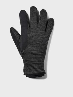 Перчатки черные с логотипом | 5492671