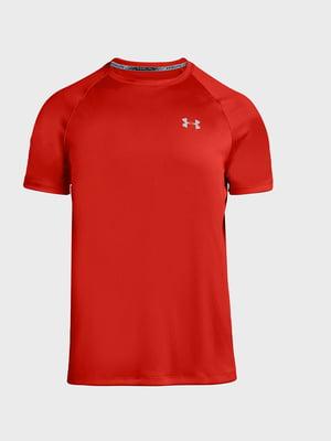 Футболка красного цвета с логотипом | 5492698