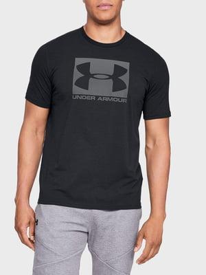 Футболка черная с логотипом-принтом | 5492941