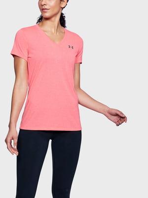 Футболка розовая с логотипом | 5493023
