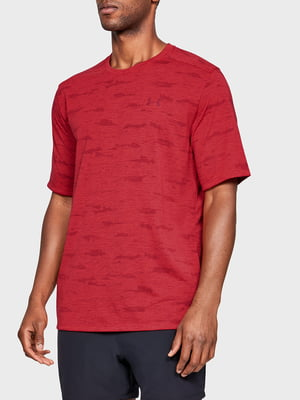 Футболка красного цвета с логотипом | 5493106