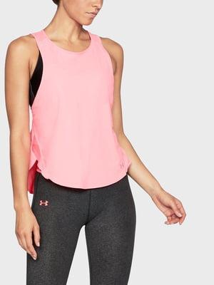 Майка розовая с логотипом | 5493243