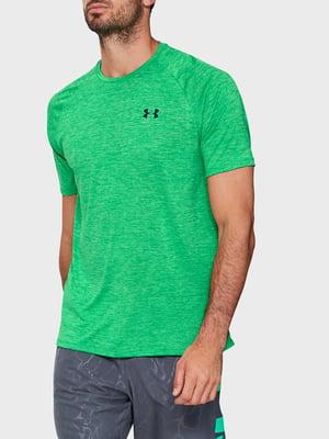 Футболка зеленая с логотипом | 5493265