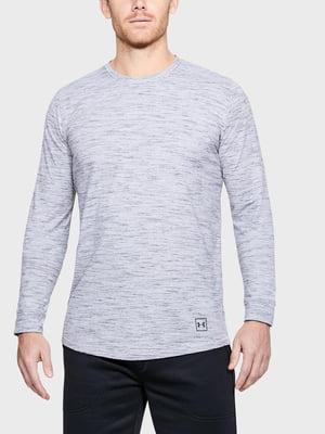 Лонгслив белый с логотипом | 5493283