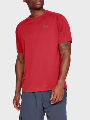 Футболка красного цвета с логотипом | 5493328