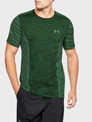 Футболка кольору зелений меланж з логотипом | 5493333