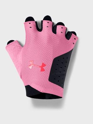 Рукавички чорно-рожеві з логотипом | 5493368