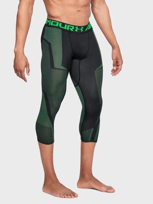 Леггинсы зеленые с логотипом | 5493370