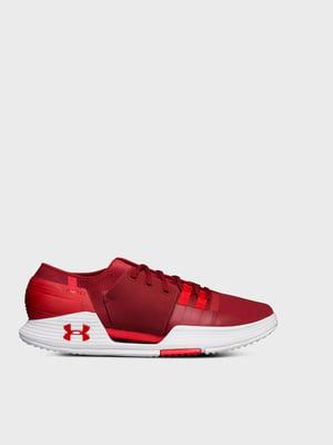 Кросівки червоного кольору з логотипом | 5493419