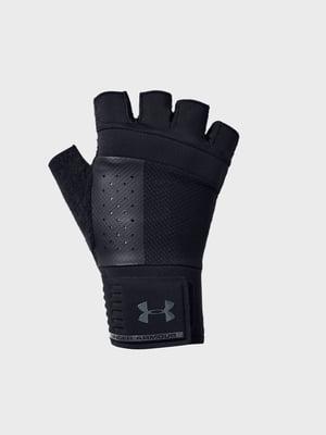 Перчатки черные с логотипом | 5493501