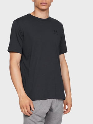 Футболка черная с логотипом | 5493517