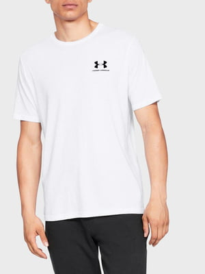 Футболка белая с логотипом | 5493520