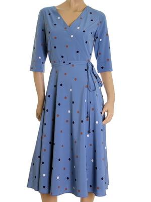 Сукня блакитна в горох   5525421