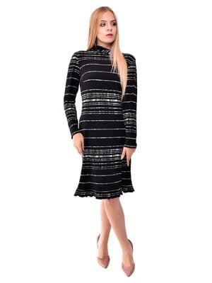 Платье черное в полоску | 5525425