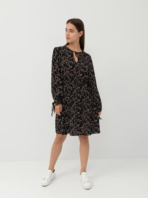 Сукня чорна в квітковий принт | 5515479