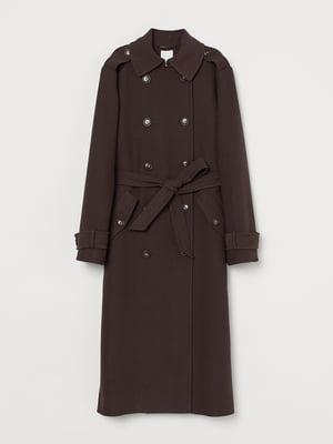 Пальто коричневе | 5520191