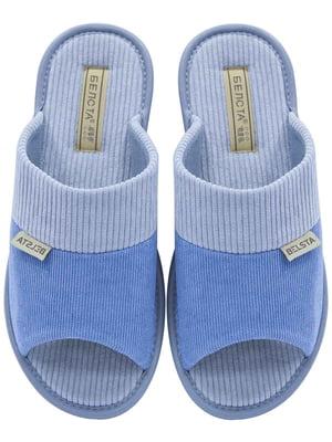 Тапочки сіро-блакитні | 5525411