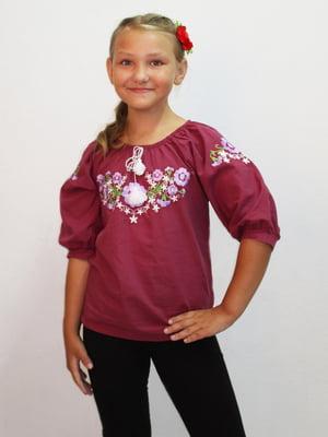 Блуза бордовая | 5247566