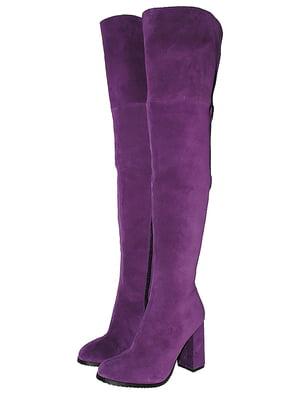 Ботфорты фиолетовые | 5526178