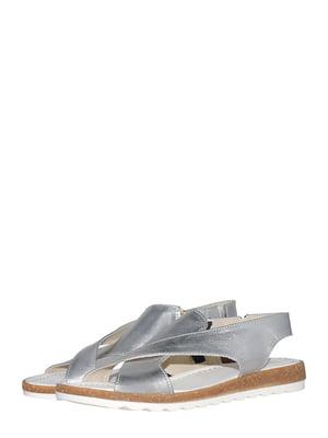 Босоніжки сріблястого кольору   5522030