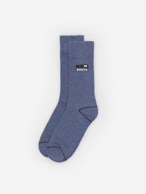 Носки синие с принтом | 5526277