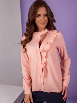 Блуза кольору пудри | 5527564