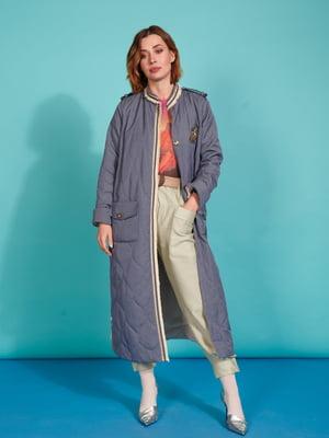 Пальто сіро-блакитного кольору | 5527603