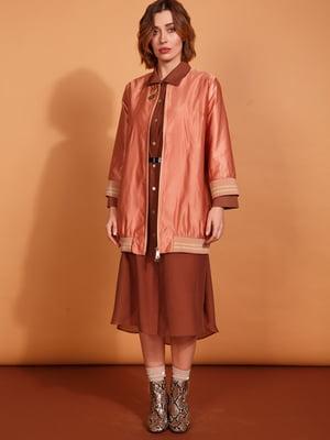Бомбер персикового цвета   5527604