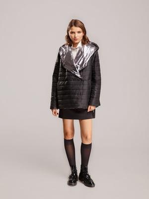 Куртка черно-серебристого цвета | 5527612